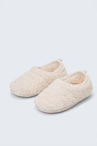 Oysho Kadın Ekru Deri Bantlı Ayakkabı