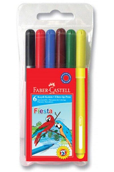 Faber Castell Fiesta 6'lı Keçeli Kalem Keçe Uçlu Kalem 6 Renk
