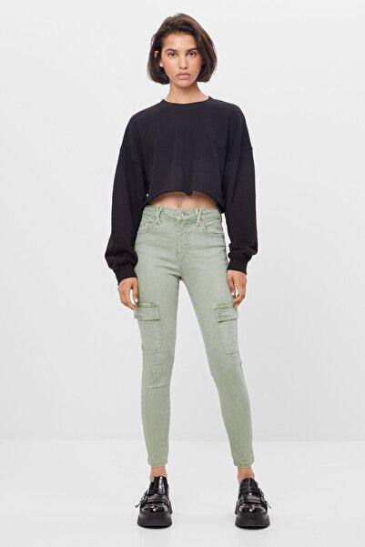 Bershka Kadın Skinny Fit Kargo Pantolon