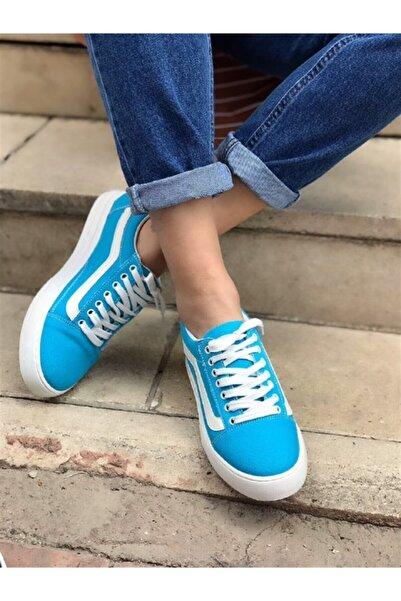 Hepsi Moda Kadın Turkuaz Miami Vans Ayakkabı