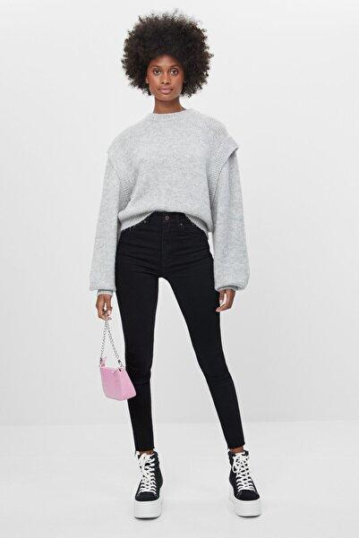 Bershka Kadın Siyah Yüksek Bel Skinny Jean