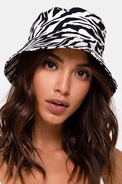 Mozto Kadın Zebra Bucket Şapka