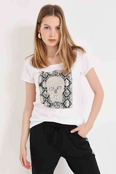 HomeStore Kadın Beyaz T-Shirt 20250619052