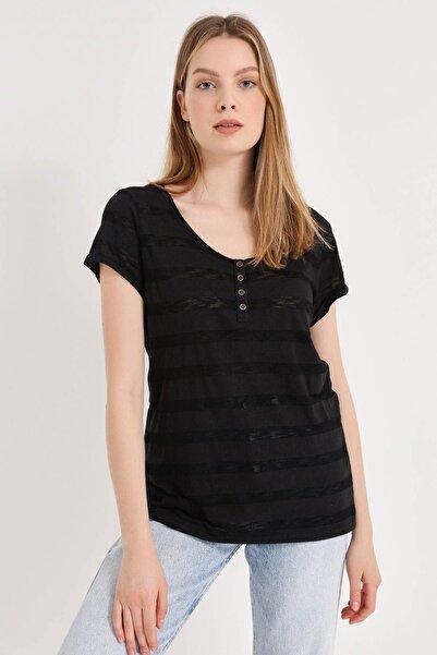 HomeStore Kadın Sıyah T-Shirt 20250119053
