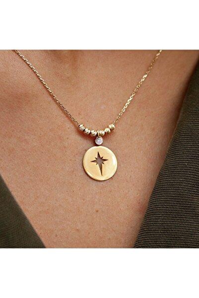 Demas Gold Pırlanta 14 Ayar Altın Dorika Kutup Yıldızı Kolye