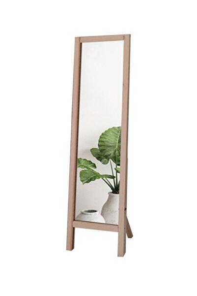 LYN HOME & DECOR Ayaklı Boy Aynası Ham Renkli Masif Ahşap 41x145 Cm