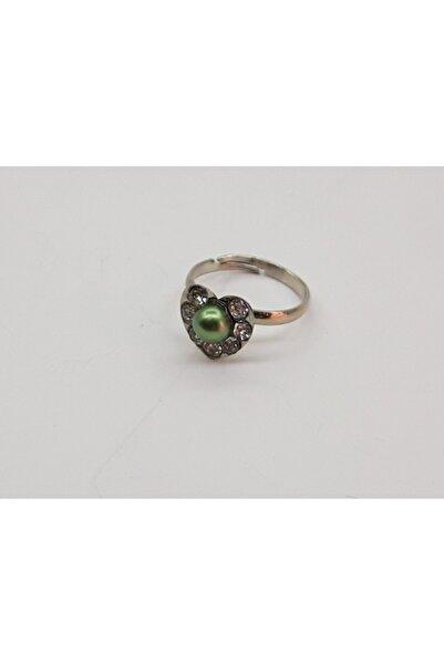 Trendyıldızı Zümrüt Yeşili Kalpli Çocuk Yüzüğü