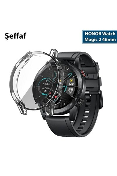 HONOR Watch Magic 2 46mm 360 Koruma Ultra Ince Silikon Kılıf - Şeffaf