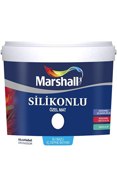 Marshall Silikonlu Özel Mat Iç Cephe Duvar Boyası 2,5 Lt Deniz Kabuğu