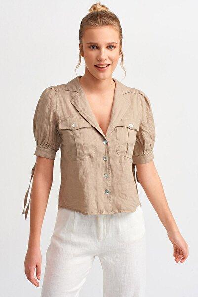 Dilvin 5804 Ceket Yakalı Gömlek-açık Haki