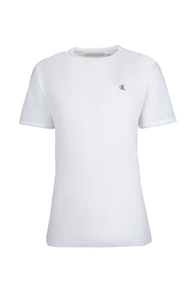Calvin Klein Erkek Beyaz Kısa Kollu T-Shirt