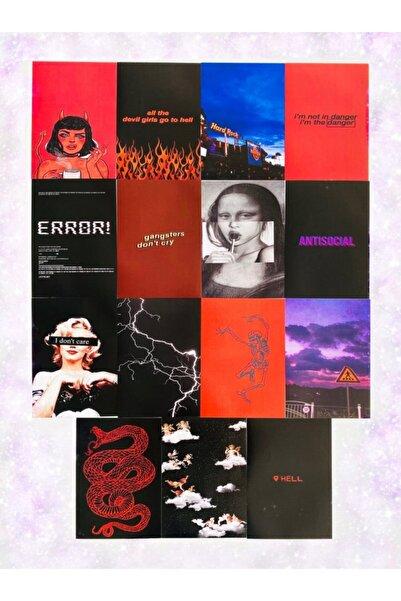 EFBUTİK 15 Adet Duvar Kağıdı D