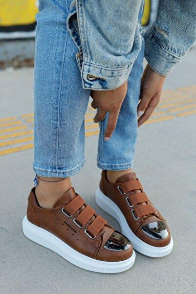 Chekich Kadın Beyaz  Taba Ayakkabı