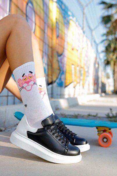 Chekich Kadın Siyah Beyaz Ayakkabı