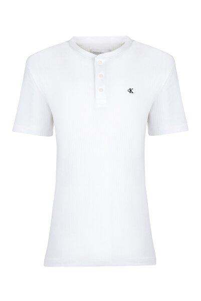 Calvin Klein Erkek Beyaz Kısa Kollu T-shirt 41vm207-103