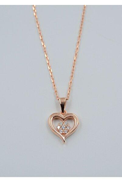 Swaroski Kadın Swaroskı Kalp Desen Taşlı 925 Ayar Gümüş  Kolye