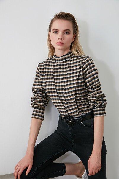 Çok Renkli Dik Yakalı Bluz TWOAW21BZ0160