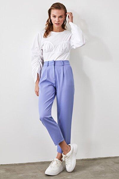 TRENDYOLMİLLA Mavi Kemer Detaylı Pantolon TWOSS19BB0468