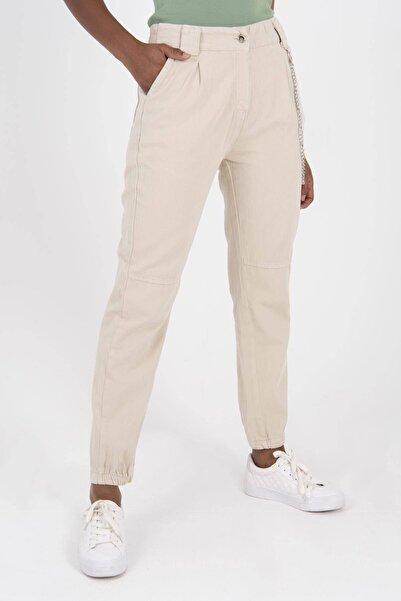 Addax Kadın Taş Zincir Detaylı Pantolon PN3974 -  PNİ ADX-0000022928