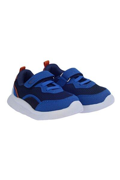 Ayakland Çocuk Saks Mavi Günlük Fileli Cırtlı Spor Ayakkabı S29