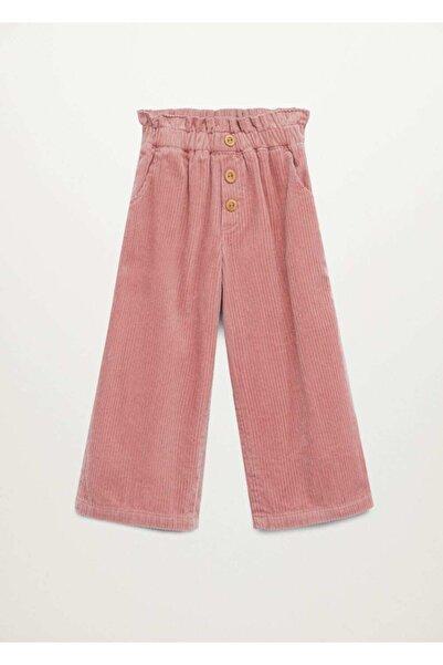 MANGO Kids Kadın  Pembe Pantolon