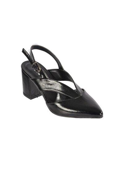 Esse Kadın Siyah Rugan Topuklu Ayakkabı