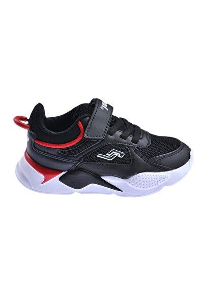Jump Unisex Çocuk Siyah Günlük Cırtlı Spor Ayakkabı 24931