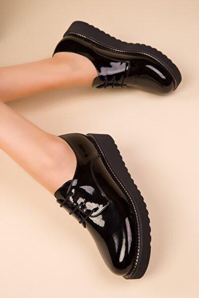 SOHO Siyah Rugan Kadın Casual Ayakkabı 15261