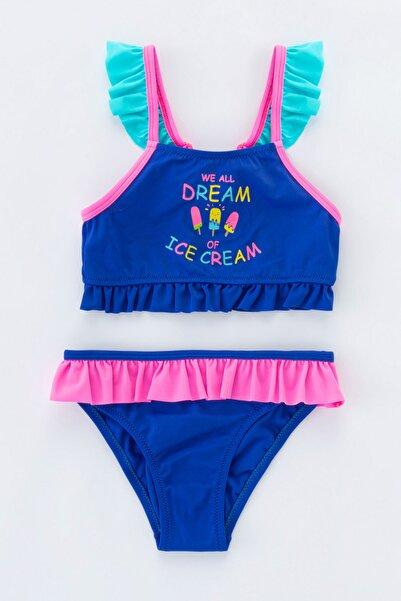 Penti Kadın Saks Kız Çocuk Sweet Dream Halter Mayo Takımı