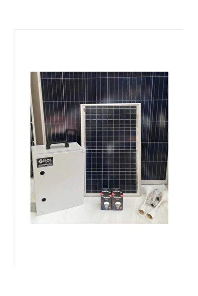 isos enerji 240 Watt Güneş Enerjili Mini Tv Ve Aydınlatma Sistemi