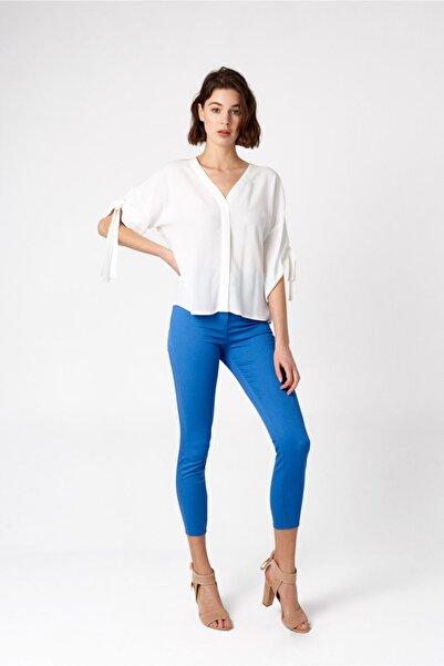 RANDOM Kadın Mavi Yüksek Bel Dar Pantolon