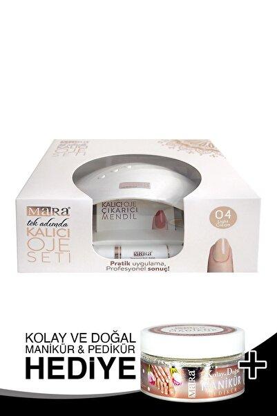 Mara Kalıcı Oje Seti 04 Light Cream + Manikür Peeling Hediye