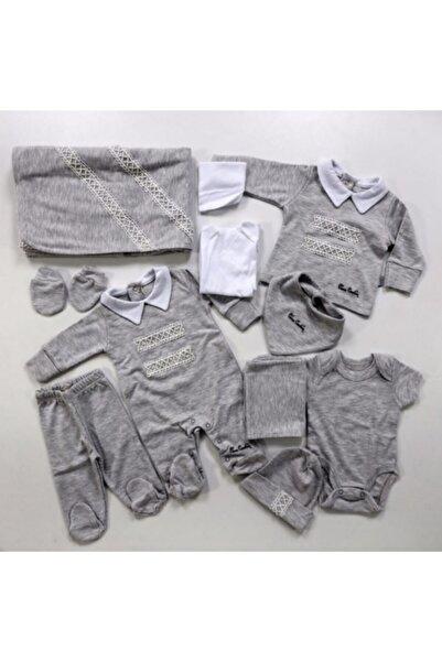 Pierre Cardin Baby Unisex Bebek Gri Hastane Çıkışı 10'lu