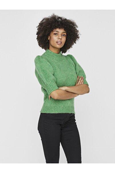 Vero Moda Kadın Yeşil Yarım Balon Kol Kazak 10233439 VMDIANA