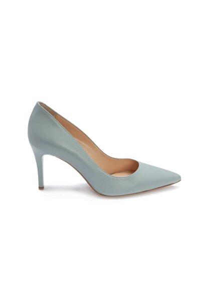 BerenBerra Yeşil Kadın Stiletto Ayakkabı 24048