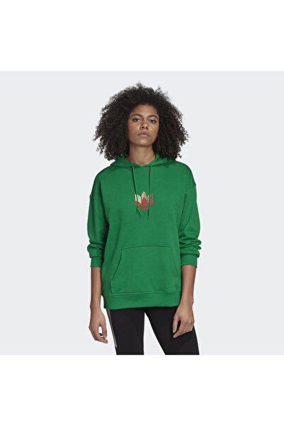 adidas Kadın Yeşil Trefoil  Sweatshirt (gd2320)