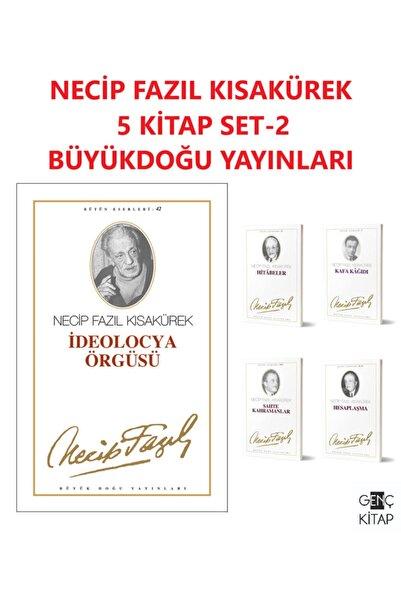 Büyük Doğu Yayınları Necip Fazıl Kısakürek 5 Kitap Set 2 Ideolocya Örgüsü-hitabeler-kafa Kağıdı