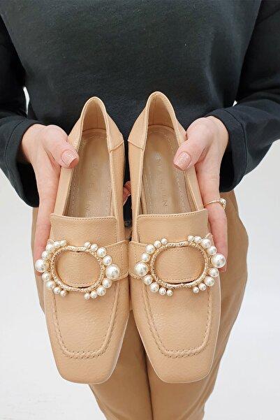 Marjin Bej Rugan Kadın Bej Rezva Düz Ayakkabı