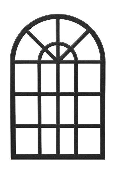 MURAT Mobilya Dekoratif Duvar Çerçeve Siyah Mdf Ayna 60x100cm