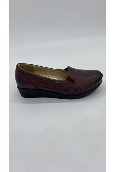 Riccardo Colli Kadın Bordo Deri Günlük Ayakkabı Z 2053