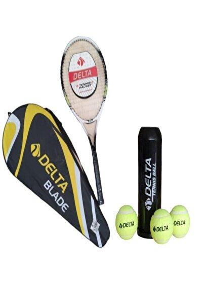 Delta Blade Tenis Maç Topu 3 Adet L3 27 Inç Tek Parça Tenis Raketi