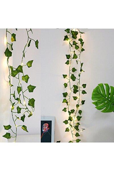 GLR Dekoratif Yeşil Yapraklı Yapay Sarmaşık Gün Işığı (sıcak Sarı) Led Işık, 2,3 mt 30 Led