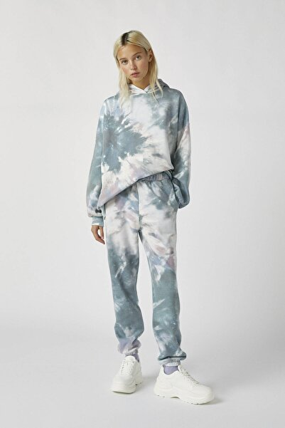 Pull & Bear Kadın Renkli Batik Jogging Pantolon 09678322