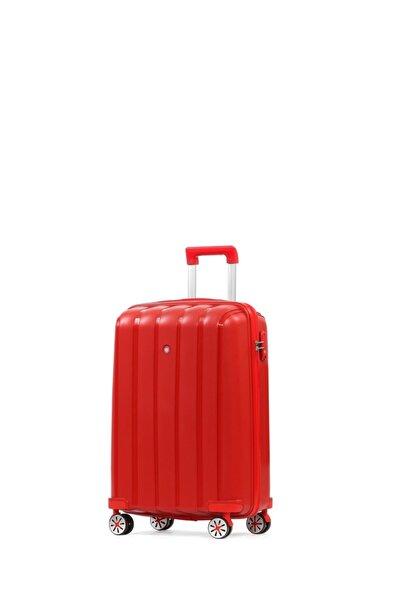 CENGİZ PAKEL Policarbon Valiz Kabin Boy-20305-k-kırmızı