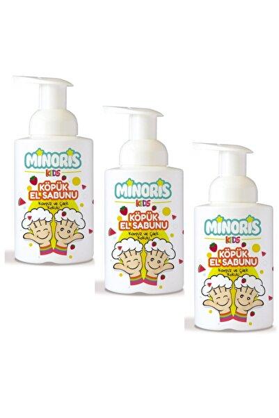 Minoris Kids Organik Köpük Sabun 300ml X 3 Adet Karpuz Çilek Kokulu