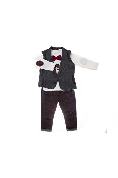 Miniworld Erkek Bebek Bordo 3lü  Takım
