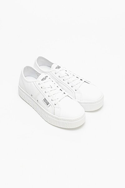 VERSACE JEANS COUTURE Erkek Beyaz Linea Fondo Brick Dis. 40 Sneakers