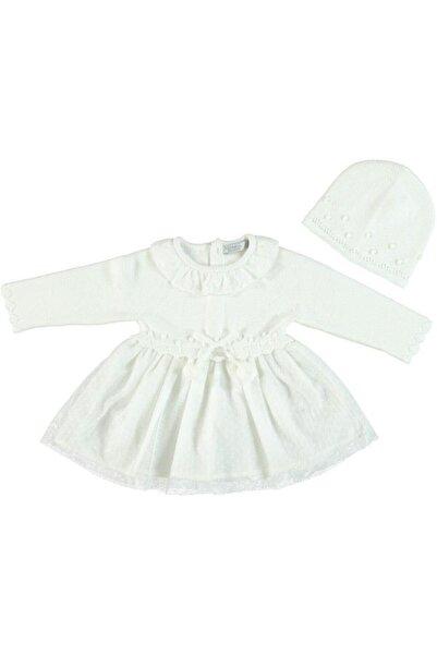 Monna Rosa Kız Çocuk Triko Elbise +şapka Seti