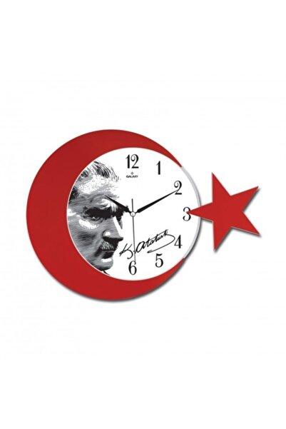 Galaxy Ay- Yıldız Desenli Atatürk Duvar Saati