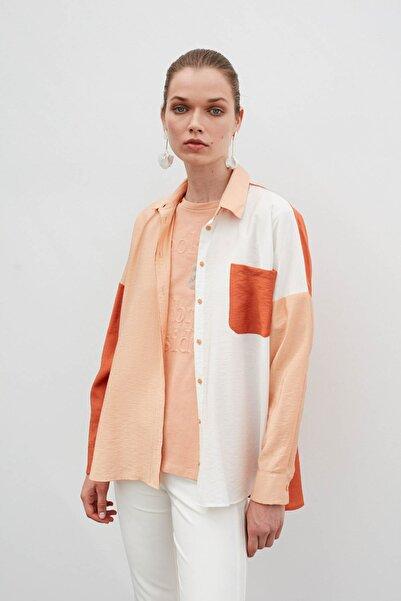 İpekyol Kadın Pembe Renk Geçişli Gömlek
